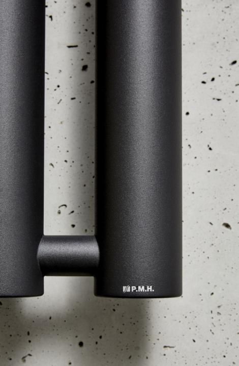 Detail radiátoru Rosendal - černá